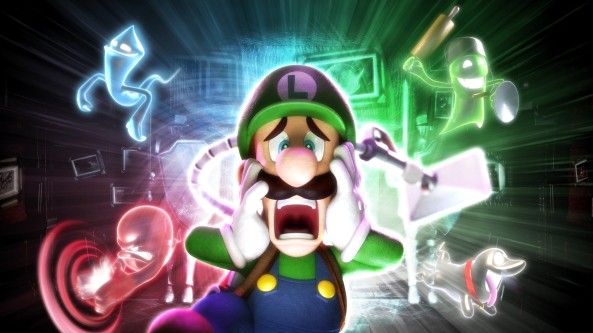 Cheer Luigi up and buy his game. You'll need a 3DS too, mind.