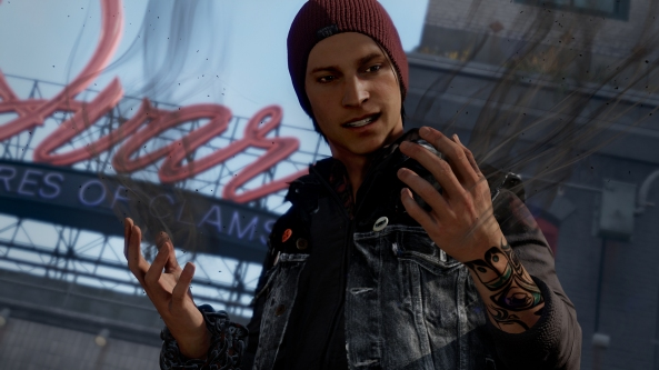 Sony have been keen to show off Infamous: Second Son so far...