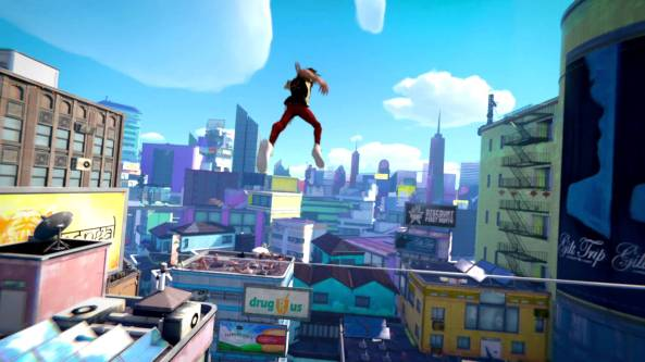 Microsoft's 'Always On' plan came under-fire but many gamers seem to crave persistent worlds that the cloud can create, like Sunset Overdrive.