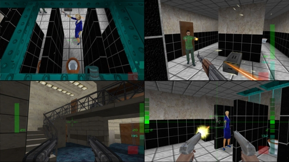 """Rare's Goldeneye and, pictured here, Perfect Dark were essential """"couch"""" multiplayer - fostering community and healthy rivarly."""